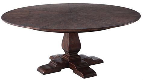 Reclaimed Oak Extending Dining Table A Reclaimed Oak Circular Extending Dining Table With Self Storing Leaves 6 8