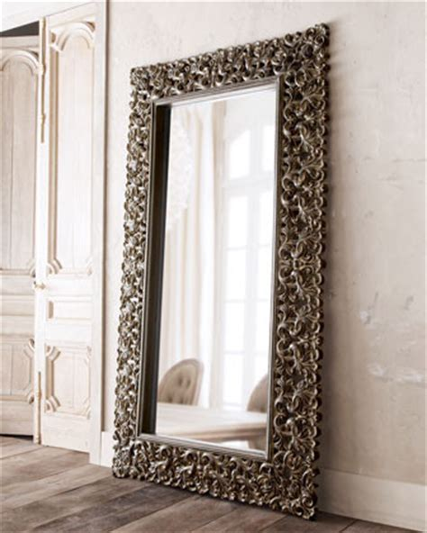 home designer pro wall length burnished charcoal floor mirror traditional mirrors