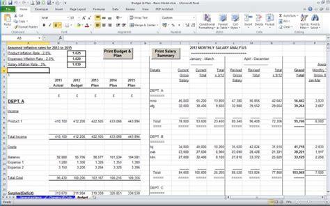 sle management accounts template management accounts departmental model accountancy