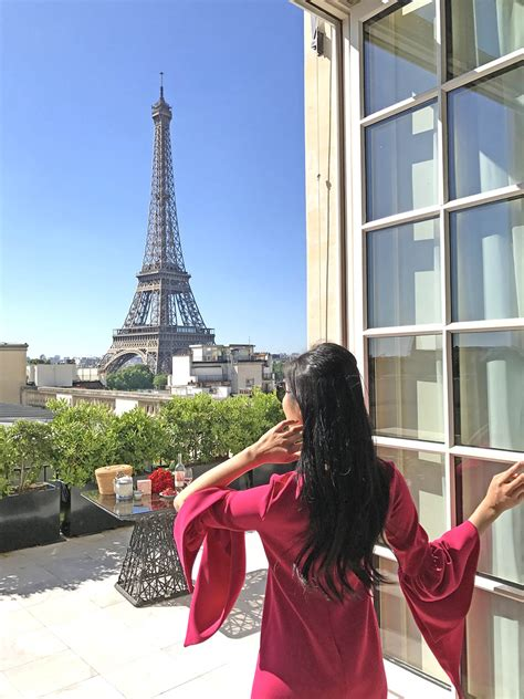 best view of eiffel tower from hotel room tina travels best luxury hotel with views of the eiffel tower shangri la of leather