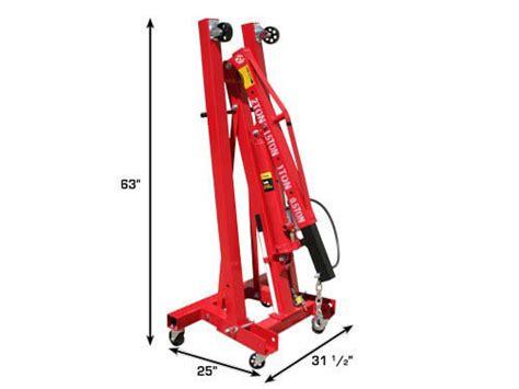 ton airhydraulic foldable engine crane