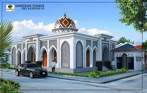 desain undangan masjid gambar desain masjid modern 1 lantai sanggar teknik