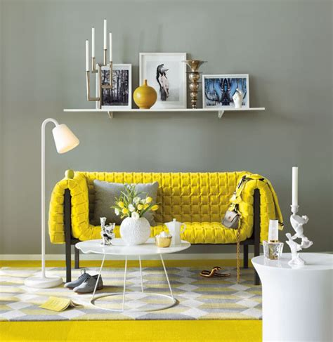 Yellow And Gray Chair Design Ideas Yellow Sofa Decorating Idea