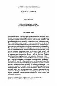 Sle Of Journal Literature Review by Stella Ten Years Later A Review Of The Literature Springer