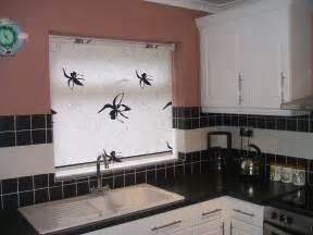 black and white roller blind kitchen sink baileys
