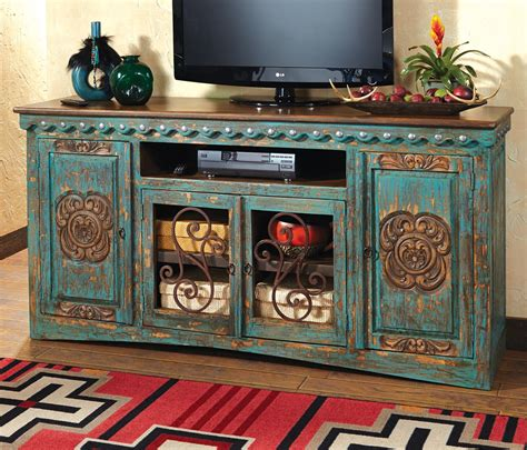 Spanish Wrought Iron Chandeliers Western Furniture Santa Maria Turquoise Entertainment