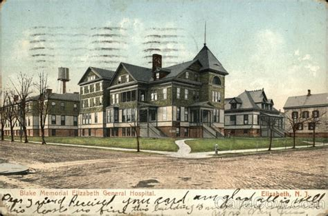 Post Office Elizabeth Nj by Memorial Elizabeth General Hospital Postcard