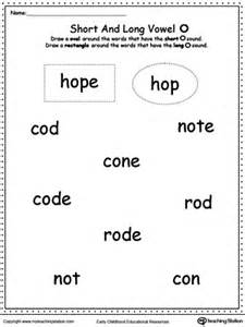 vowels short or long o sound words myteachingstation com