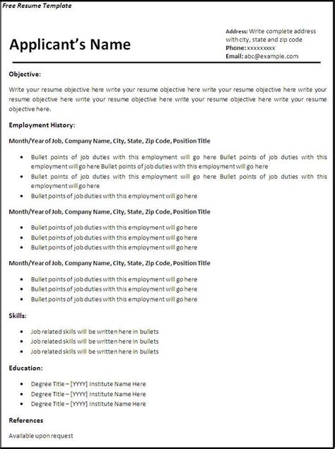free templates for a resume create resume for free learnhowtoloseweight net