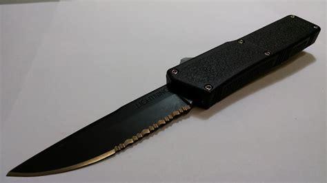 otf knives tactical serrated lightning d a otf knife