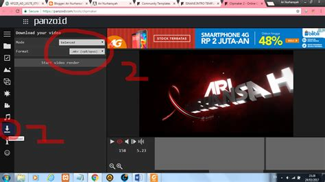 membuat opening video  mudah tips tutorial unik