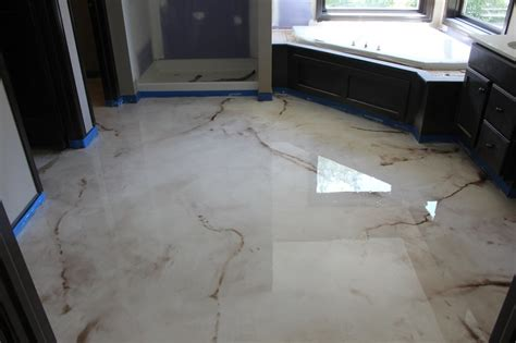 epoxy resin flooring is suitable for a bathroom