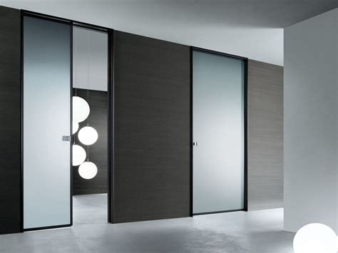 modern glass doors modern interior glass doors spin by rimadesio digsdigs