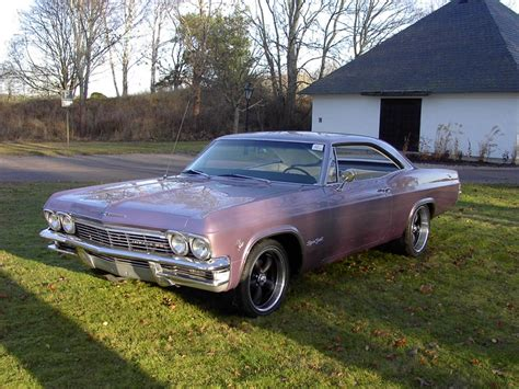 chevrolet impala 1965 ss cabrio evening orchid bed