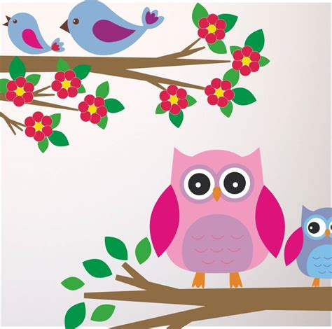 bird wall stickers owls and birds branch wall stickers by mirrorin