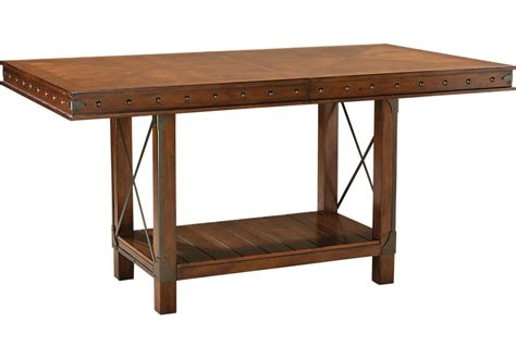 bench for counter height table red hook pecan rectangle counter height dining table dining tables dark wood