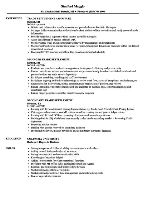 Skill Trade Resume by Statement Clerk Knowledge U0026 Skills Bank