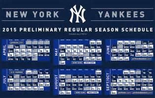 Calendario De Los Yankees 2016 Ny Yankees Printable Schedule Calendar Template 2016