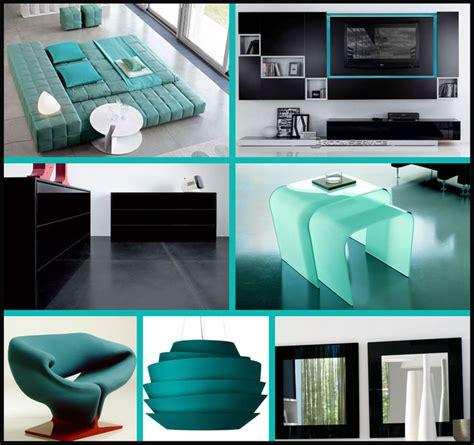 black  teal bedroom idea