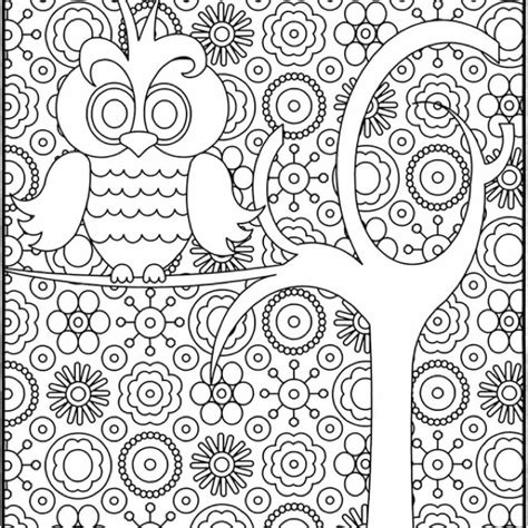 free coloring pages of hard owl