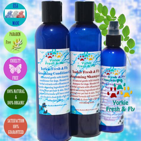 yorkie hair care products yorkie shoo best yorkie grooming products organic holistic pet care moringa