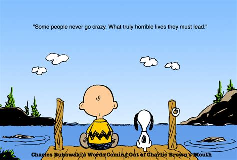Charlie Brown Memes - charles bukowski s words coming out of charlie brown s