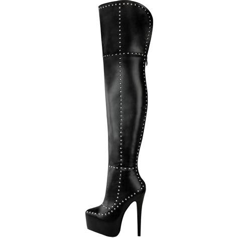 unisex high heels mens unisex the knee thigh high platforms boots drag