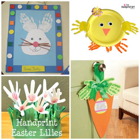 crafts with handprints easter handprint and fingerprint crafts for crafty