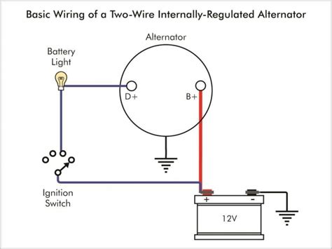 single wire alternator diagram wiring free wiring diagrams