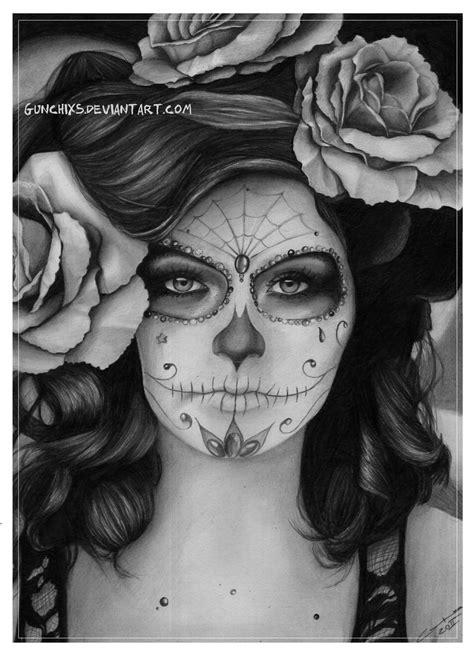 sugar skull girl tattoo sugar skull by gunchixs on deviantart