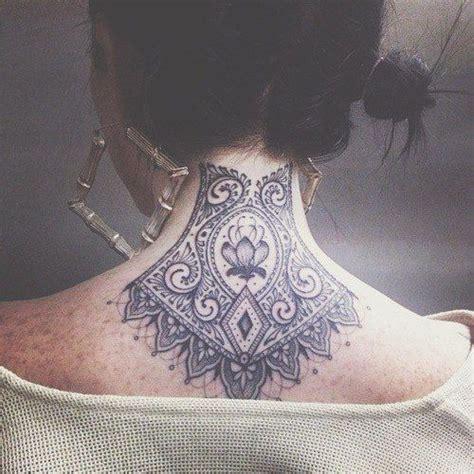 neck tattoo good idea back neck black ink