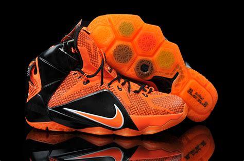 orange and black womens basketball shoes lebron 12 nike orange black basketball shoes