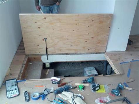 Help! Floor door into basement with gas springs