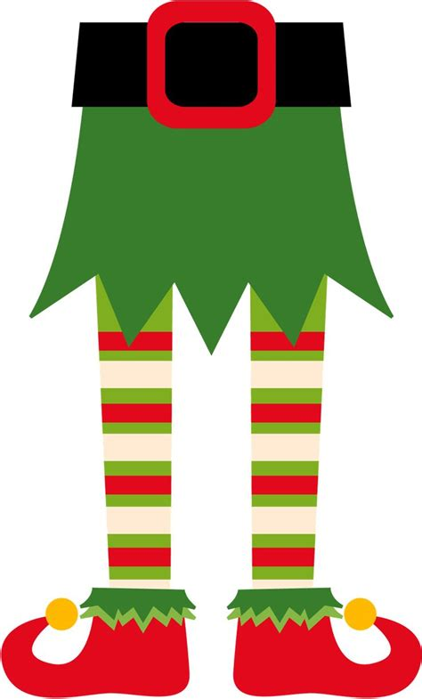 printable elf legs elf feet clipart clipartxtras