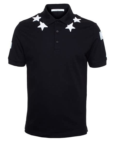 Givenchy Tribal Patch Polo Shirt In Black 100 Authentic givenchy polo shirt in black for lyst