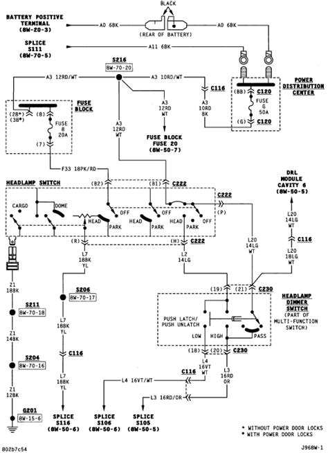 i need a wiring diagram for a 1996 dodge dakota headlight