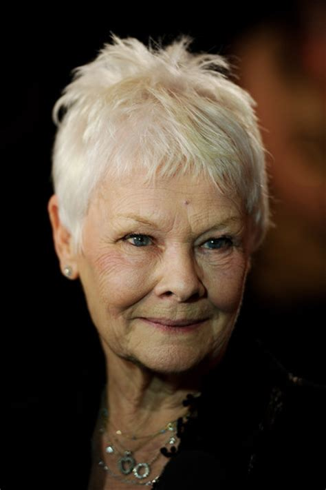 judi dench hairstyle front and back of head judy dench short hairstyles back of head