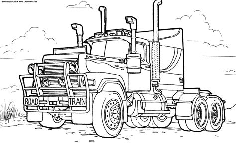 mack truck coloring page camions coloriages des transports page 2