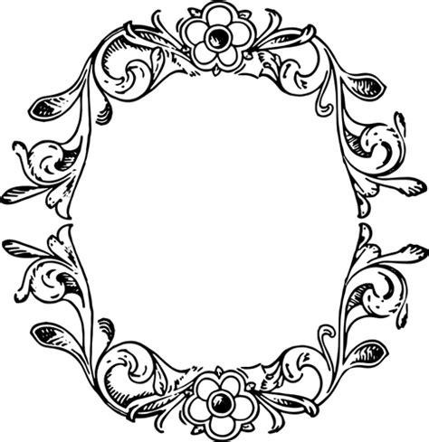 doodle lingkaran floral oval border clip 39