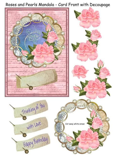 decoupage 3d pictures 3d decoupage photo roses pearls mandala 5850250 3 jpg