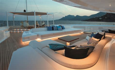 yacht upper deck in pictures the interiors of luxury charter yacht cloud 9