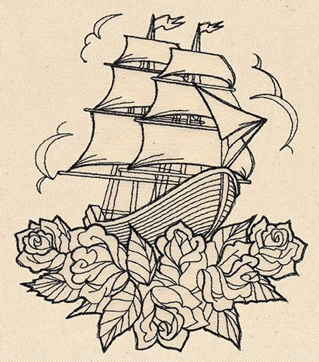 clipper ship tattoo designs thread tattoos ship and roses threads unique and