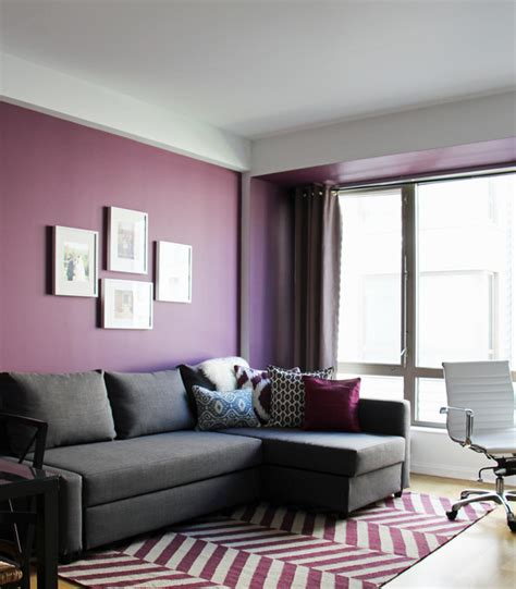 modern living room purple couch interior design contemporary purple blue living room contemporary