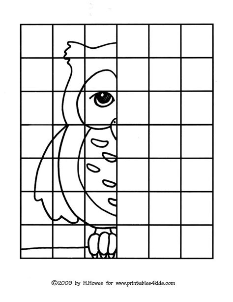 owl complete  picture drawing printables  kids