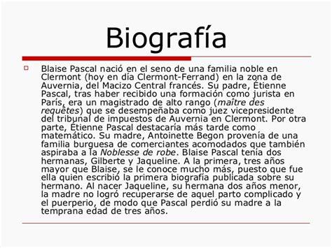 biografia di blaise pascal biografieonline it biograf 237 a de blaise pascal