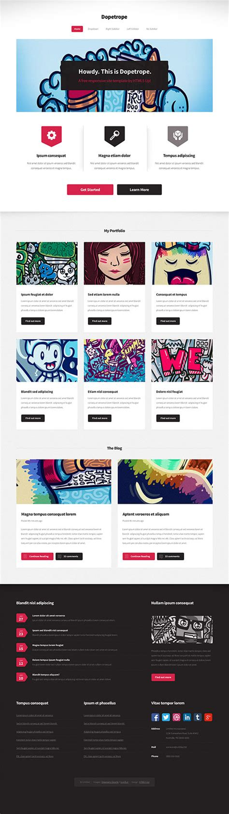 html5 layout inspiration free responsive html5 templates