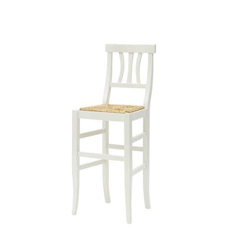 sgabello prezzo sgabello country in legno laccato bianco con seduta in