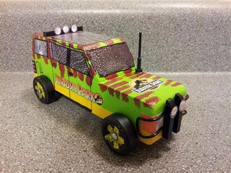 jurassic park tour car 2014 pinewood derby car jurassic park tour car