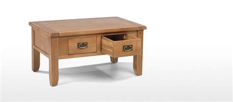 Small Coffee Table With Drawer by Rustic Oak Small 2 Drawer Coffee Table Quercus Living