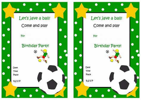 printable birthday cards soccer soccer free printable birthday party invitations